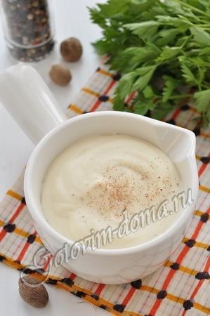 белый соус с грибами рецепты #10