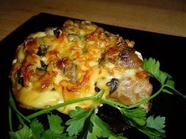 рецепт отбивных с грибами видео