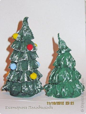 Мастер-класс Бумагопластика: Новогодние елочки из бумаги МК Бумага, Клей, Краска Новый год, Рождество. Фото 11