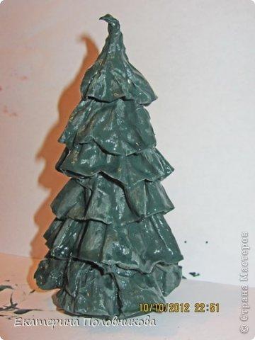 Мастер-класс Бумагопластика: Новогодние елочки из бумаги МК Бумага, Клей, Краска Новый год, Рождество. Фото 9