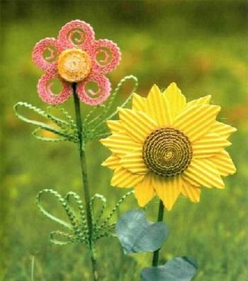 самодельные декоративные цветы