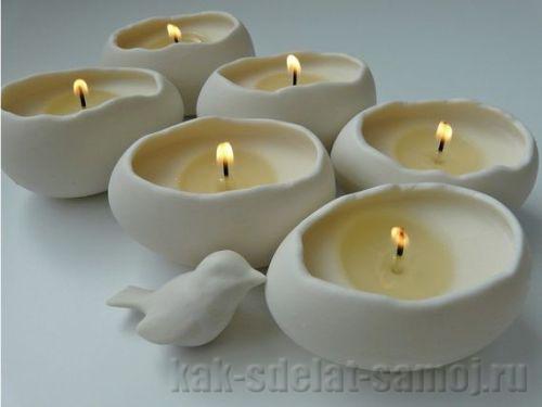 Поделка на Пасху - свечи