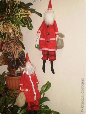 Куклы Шитьё: Санта Клаус -тильда Ткань Новый год. Фото 1