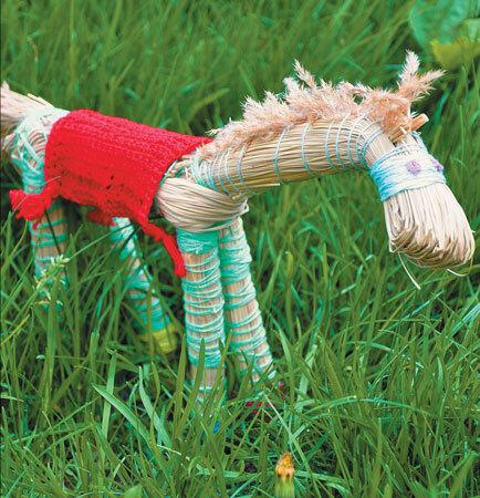 Лошадка из травы