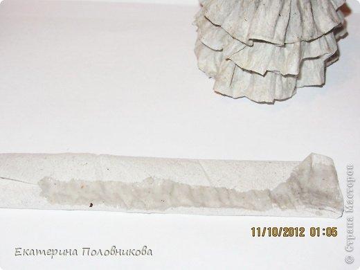 Мастер-класс Бумагопластика: Новогодние елочки из бумаги МК Бумага, Клей, Краска Новый год, Рождество. Фото 3