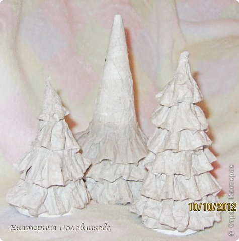 Мастер-класс Бумагопластика: Новогодние елочки из бумаги МК Бумага, Клей, Краска Новый год, Рождество. Фото 8