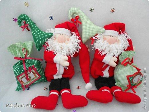 Игрушка Шитьё: Парочка Санта-Клаусов)) Ленты, Нитки, Ткань Новый год. Фото 1