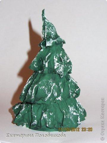 Мастер-класс Бумагопластика: Новогодние елочки из бумаги МК Бумага, Клей, Краска Новый год, Рождество. Фото 10