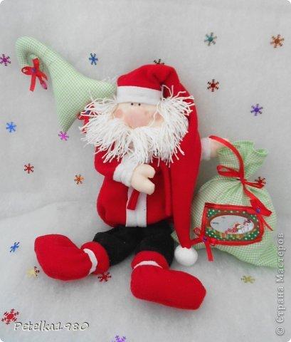 Игрушка Шитьё: Парочка Санта-Клаусов)) Ленты, Нитки, Ткань Новый год. Фото 5