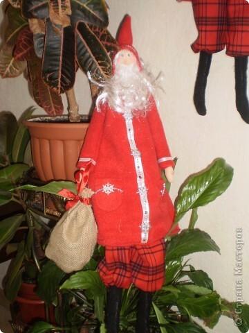 Куклы Шитьё: Санта Клаус -тильда Ткань Новый год. Фото 4
