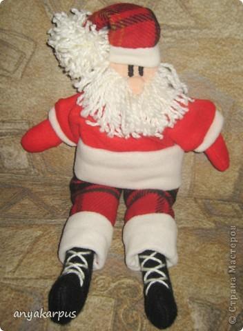 Куклы Шитьё: Санта Клаус Нитки Новый год. Фото 2