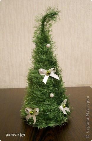 Интерьер, Поделка, изделие: Последние пушистики этого года Ленты, Нитки Новый год, Рождество. Фото 3