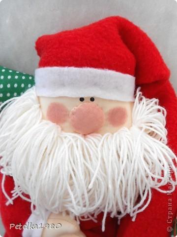 Куклы Шитьё: Санта)) Бусинки, Ленты, Нитки, Ткань Новый год. Фото 2