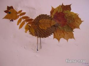 Мама для мам: Аппликации из осенних листьев и природного материала