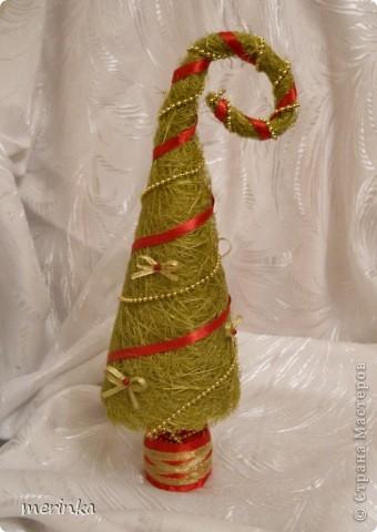 Декор предметов, Поделка, изделие Моделирование: Зеленая красавица Бусинки, Ленты Новый год. Фото 1