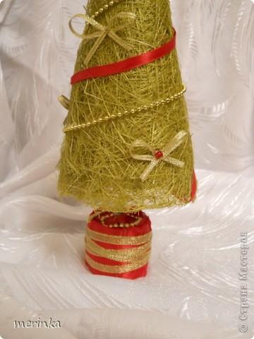 Декор предметов, Поделка, изделие Моделирование: Зеленая красавица Бусинки, Ленты Новый год. Фото 3