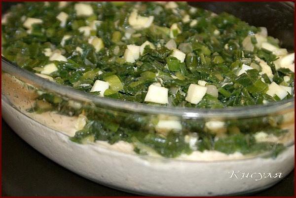 Заливной пирог с яйцом и зеленым луком на кефире рецепт с ...